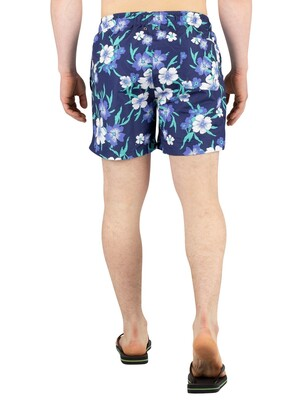 Gant Floral Swim Shorts - Persian Blue