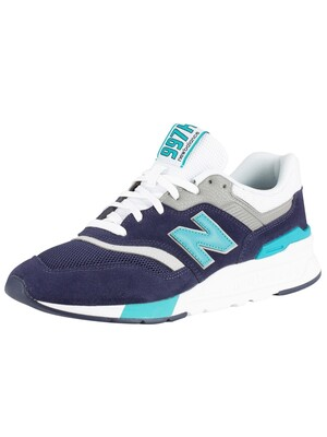 New Balance 997 Suede Trainers - Navy/Green