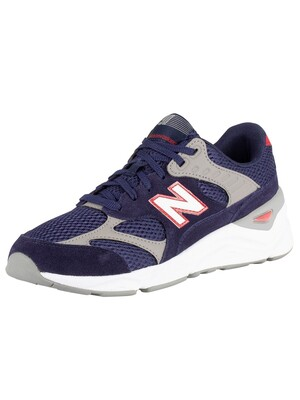 New Balance X-90 Suede Trainers - Blue