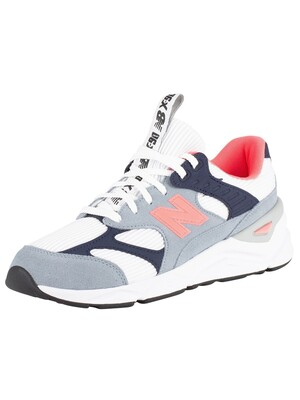 New Balance X-90 Suede Trainers - Grey/White/Navy