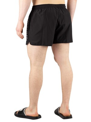 Calvin Klein Short Runner Swim Shorts - Black