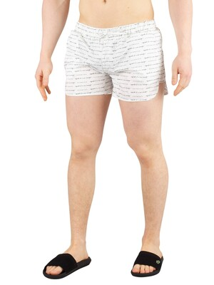 Hermano All Over Print Beach Swim Shorts - White