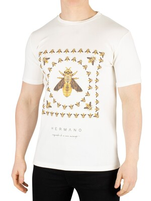 Hermano Box Bee Print T-Shirt - White