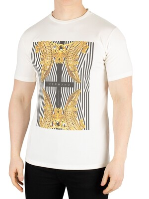 Hermano Cross Crocodile T-Shirt - White