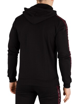 Hermano Forefont Taped Overhead Hoodie - Black/Red/White
