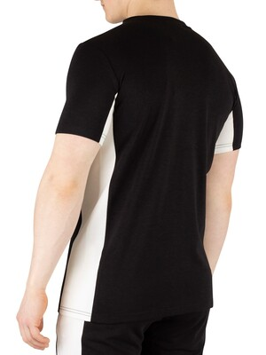 Hermano Side Panel Chest Logo T-Shirt - Black/White