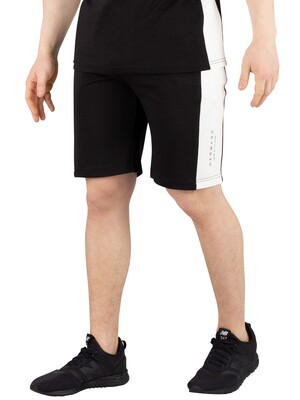 Hermano Side Panel Jersey Sweat Shorts - Black/White