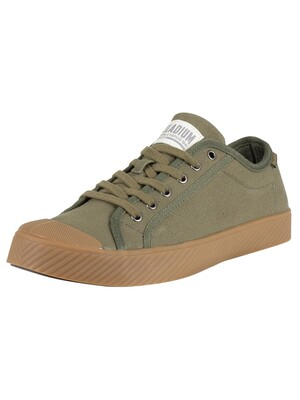 Palladium Pallaphoenix Trainers - Olive Night