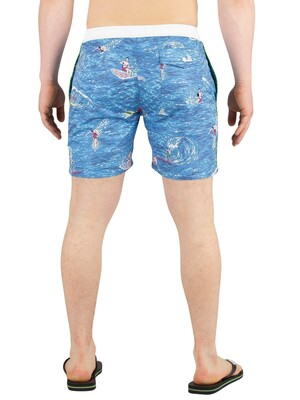 Scotch & Soda All Over Print Swim Shorts - Blue