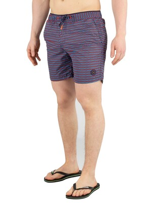 Scotch & Soda Colourful Swim Shorts - Blue/Red
