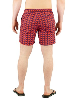 Scotch & Soda Colourful Swim Shorts - Red