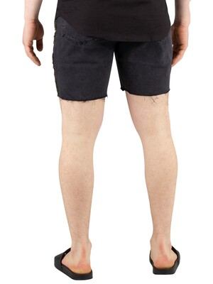 Sik Silk Cartel Denim Shorts - Black