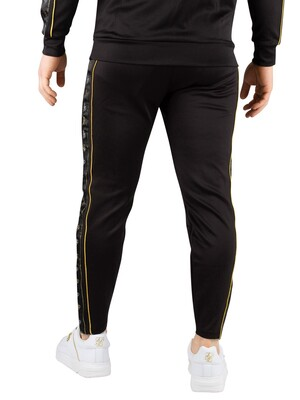 Sik Silk Cropped Taped Joggers - Black/Gold