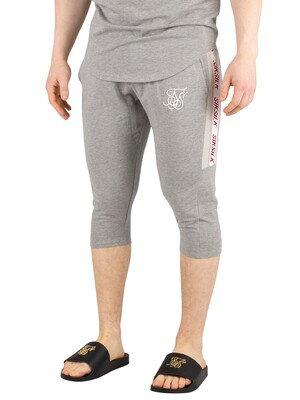 Sik Silk Performance Sweat Shorts - Grey Marl