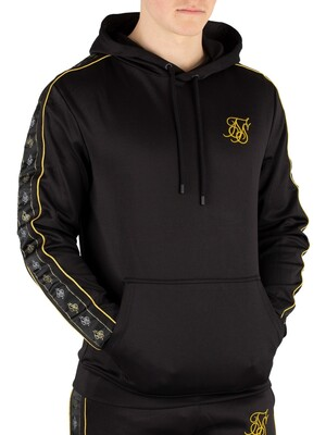 Sik Silk Pullover Taped Hoodie - Black/Gold