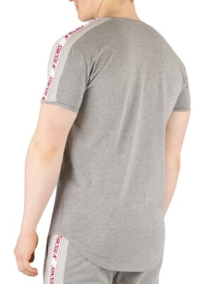 Sik Silk Tape Gym T-Shirt - Grey Marl
