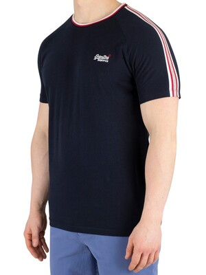 Superdry Orange Label Tipped Sports Stripe T-Shirt - Eclipse Navy