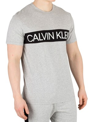 Calvin Klein Graphic Pyjama T-Shirt - Grey Heather