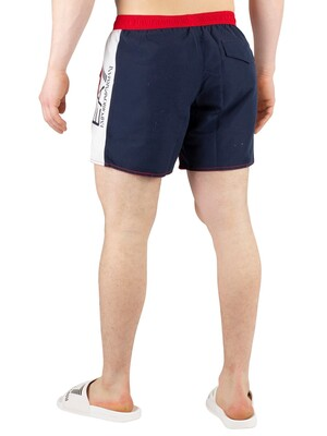 EA7 Sea World Block Swim Shorts - Tango Red/White/Blue