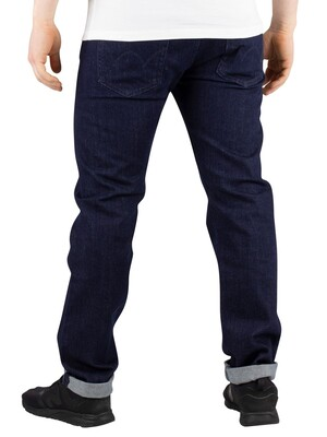 Edwin ED-80 CS Braxton Slim Tapered Jeans - Rinsed Blue Denim
