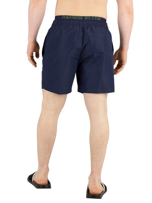 Calvin Klein Medium Double Waistband Swim Shorts - Blue Shadow