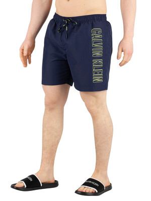 Calvin Klein Medium Drawstring Swim Shorts - Blue Shadow