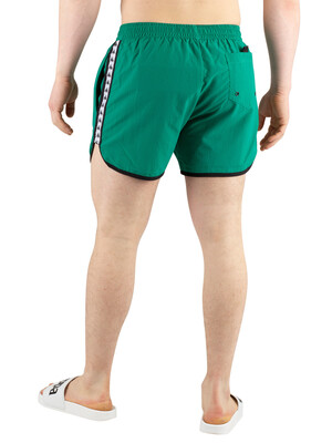Kappa Authentic Agius Swim Shorts - Green/White/Black