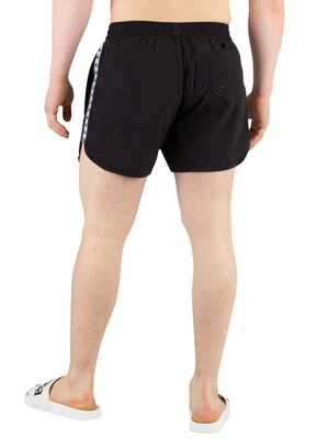 Kappa Authentic Agius Swim Shorts - Black/White/Black
