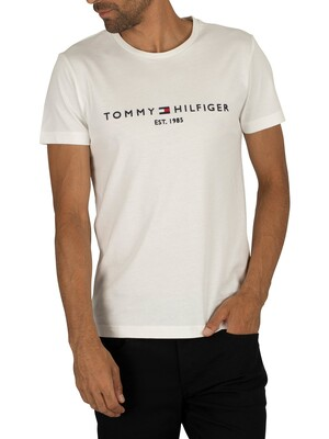 Tommy Hilfiger Logo T-Shirt - Snow White