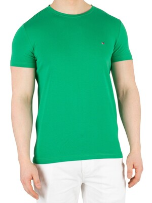 Tommy Hilfiger Stretch Slim Fit T-Shirt - Jelly Bean
