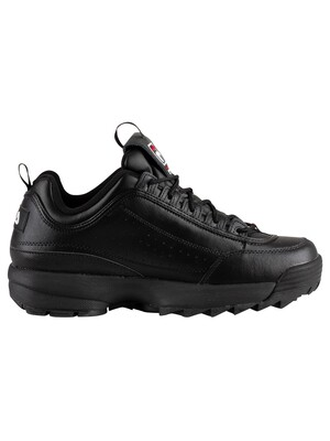 Fila Disruptor II Premium Trainers - Black/White/Red