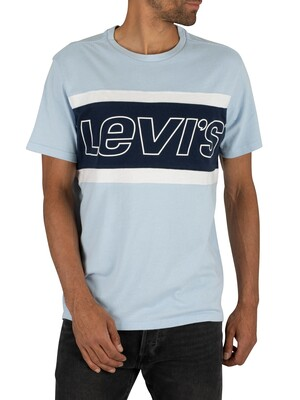 Levi's Colour Block T-Shirt - Sky