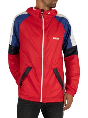 Levi's Colour Block Windrunner Jacket - Chinese Red