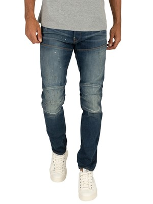 G-Star 5620 3D Slim Jeans - Aged Painted Ripped