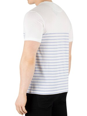 Lyle & Scott Breton Stripe T-Shirt - White/Blue Smoke