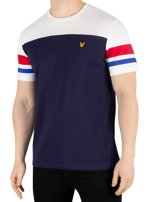 Lyle & Scott Contrast Band T-Shirt - Navy