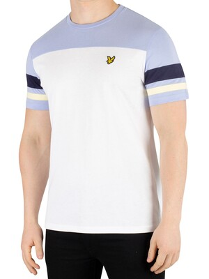 Lyle & Scott Contrast Band T-Shirt - White
