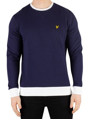 Lyle & Scott Contrast Sweatshirt - Navy