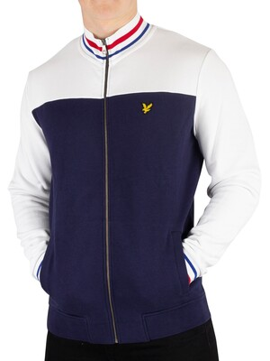 Lyle & Scott Tipped Funnel Neck Track Jacket - Navy
