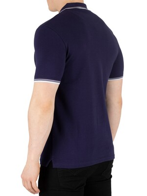 Lyle & Scott Tipped Slim Stretch Polo Shirt - Navy