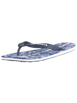 Superdry International Flip Flops - Dark Navy/Navy Marble/Optic White