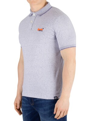 Superdry Orange Label Jersey Polo Shirt - Optic Grit Feeder
