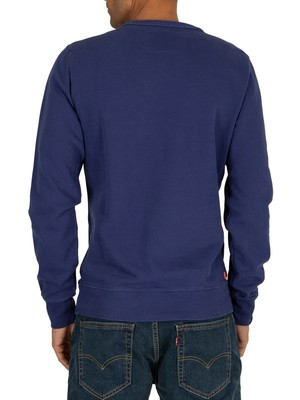Superdry Orange Label Pastelline Sweatshirt - Beachwater Blue
