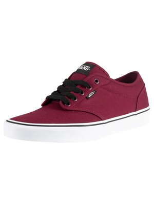 Vans Atwood Canvas Trainers - Oxblood/White