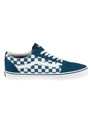 Vans Ward Checkerboard Trainers - Sailor Blue