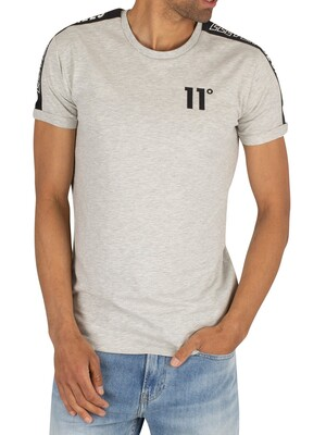 11 Degrees Taped Muscle Fit T-Shirt - Tornado Marl