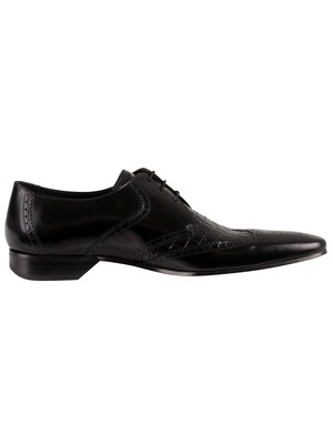 Jeffery West Leather Derby Shoes - Black
