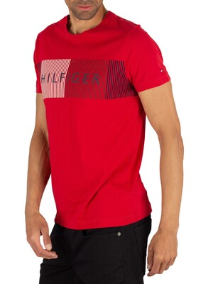 Tommy Hilfiger Merge T-Shirt - Haute Red