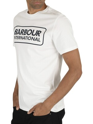 Barbour International Essential Large Logo T-Shirt - White