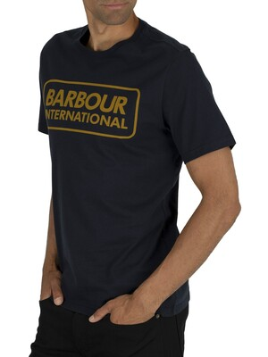 Barbour International Essential Large Logo T-Shirt - Navy